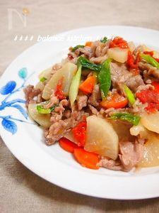 豚肉と大根の梅風味生姜焼き 疲労回復!