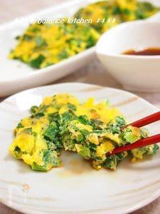 ニラ&ネギたっぷり!ビタミンの宝庫 緑の卵焼き