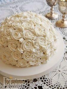 ふんわりスポンジ☆スプリングストロベリーローズケーキ