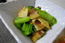 ゆで豚と筍の炒め物