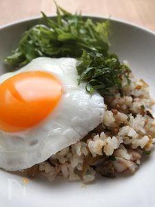ほっけと高菜の混ぜご飯