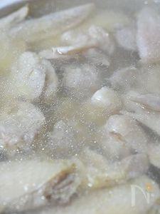 昔ながらのおばぁちゃんの味・鶏の水炊き<全工程写真>