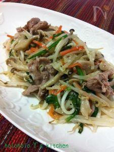 塩麹の野菜炒め