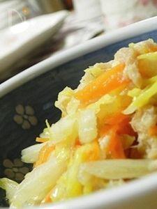 白菜のツナ炒め