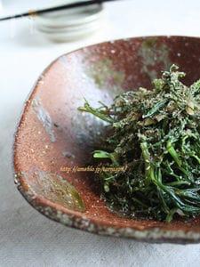 おかひじきのペペロン胡麻山椒風味