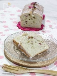 桜と白あんのパウンドケーキ