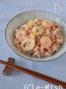 海老とセロリの塩レモン寿司