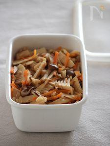 筍ときのこの五目煮。