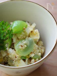春のお豆のキヌア塩レモンサラダ