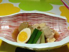 コンビニおでんを活用、簡単高野豆腐の豚肉包み