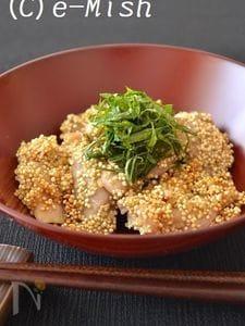 鶏肉の梅風味キヌア衣焼き