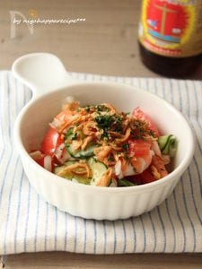 新玉ねぎとトマトのアジアンサラダ