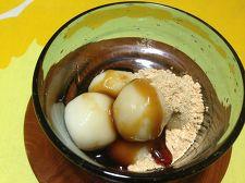 豆腐の白玉 ~きな粉と黒蜜で和風に~
