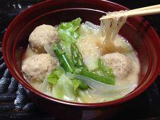 和風春雨ヌードル ~しじみスープと春の野菜で~