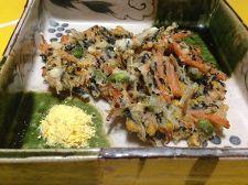 みかんの皮入り野菜かき揚げ