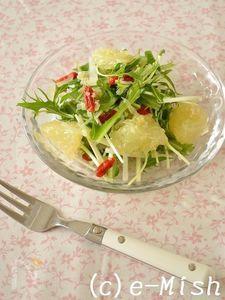 大根と水菜のフルーツキヌアドレッシングサラダ