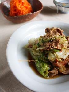 しゃきしゃきレタスの豚生姜焼き