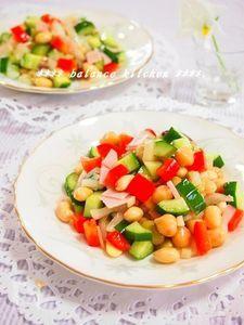 余った漬物が美味しいサラダに!コロコロ豆サラダ