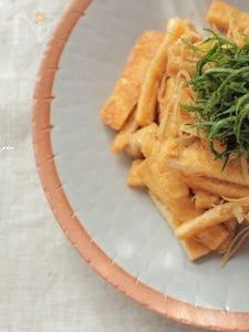 生姜たっぷりお揚げの煮びたし
