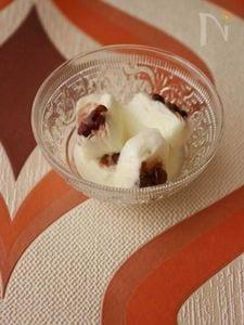 カルピスミルクの小豆氷