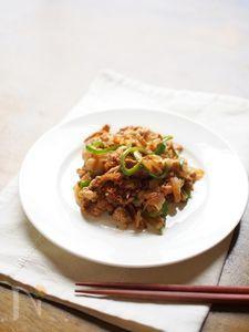 野菜がたっぷり入った、生姜焼き