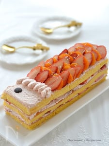 こいのぼりミルフィーユケーキ