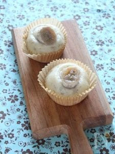 米粉でつくるバナナ豆乳蒸しパン