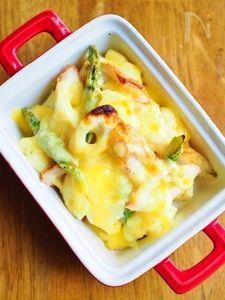 じゃが芋と竹輪のチーズグラタン