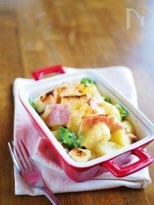 じゃが芋とピーマンで簡単★パン・グラタン