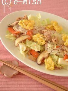 【缶詰レシピ】きゃべつとツナの春雨炒め