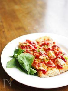 魚焼きグリルで窯焼風★ラク計量で簡単!発酵なしピザ
