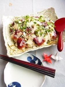 鰹とパルミジャーノのてこね寿司