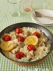 鶏肉とミニトマトの塩レモンピラフ