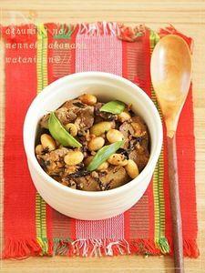 疲労回復☆鶏レバーと豆のひじき煮つけ