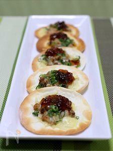 ゼラチンでジューシー!  手作りチャーシュー&餃子皮ひと口ピザ