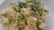 水菜と鶏肉の簡単チャーハン