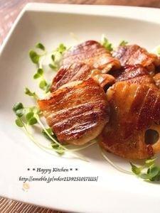 蓮根の肉巻き甘辛焼き