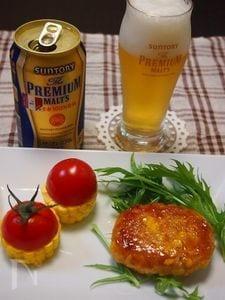 鱈のすり身ととうもろこしバーグバター醤油風味
