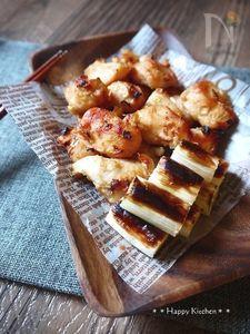 トースターで簡単!ネギとささみの味噌焼き