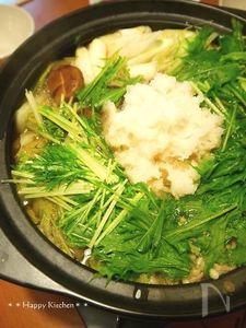 生姜たっぷりポカポカみぞれ鍋(柚子こしょうポン酢で!)