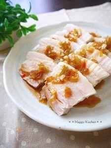 茹で豚香味ソースがけ&味噌レタス包み