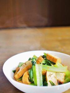 小松菜と厚揚げの甘辛炒め煮