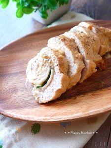 レンジで簡単!鶏むね肉の味噌マヨチーズロール