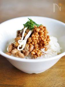 納豆・醤油麦麹マヨご飯