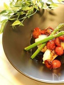 バルサミコ風味の鱈コンフィ