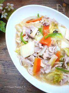 残り野菜♪白菜と豚肉で八宝菜風の塩炒め
