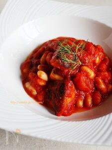 塩さばと白いんげん豆のトマト煮込み