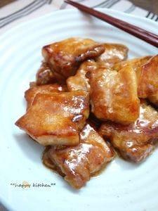 塩麹で豚の甘辛煮、角煮風