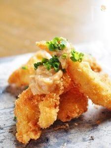 パルミジャーノ入りパン粉のチキンカツ★味噌タレ