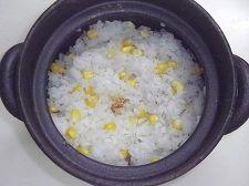 とうもろこしご飯(土鍋)